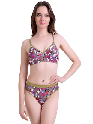 set of 2 multi colored bra and panty set - 14901737 - Standard Image - 2