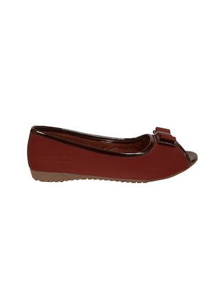 brown faux leather slip on sandals - 14902418 - Standard Image - 2