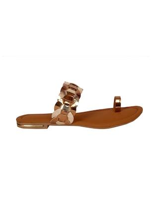 brown one toe sandal - 14902430 - Standard Image - 2