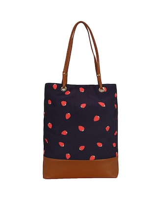 blue canvas regular shopping bag - 14902958 - Standard Image - 2