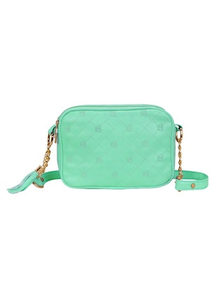 green leatherette regular sling bag - 14903025 - Standard Image - 2