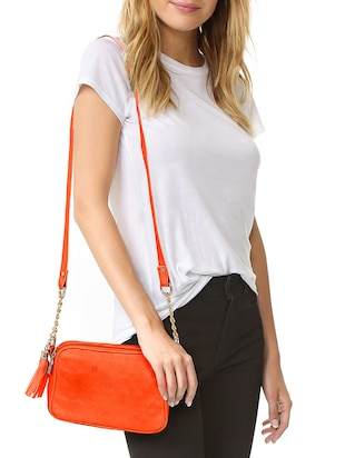 orange leatherette  regular sling bag - 14903027 - Standard Image - 5
