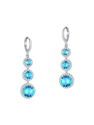 blue brass pendants and earrings - 14903158 - Standard Image - 2