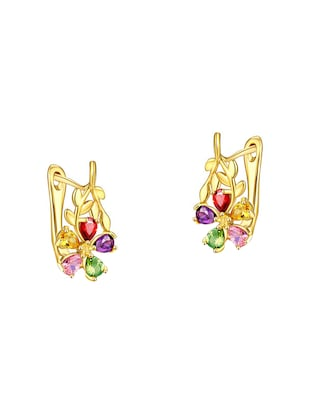 multi colored brass pendants and earrings - 14903184 - Standard Image - 2