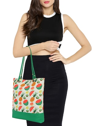 white canvas regular tote - 14903382 - Standard Image - 5