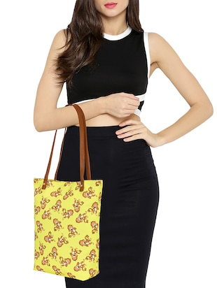 yellow canvas regular tote - 14903384 - Standard Image - 5