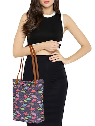 purple canvas regular tote - 14903387 - Standard Image - 5