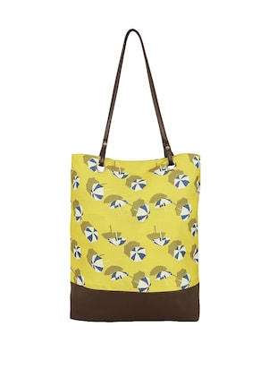 yellow canvas regular tote - 14903390 - Standard Image - 2