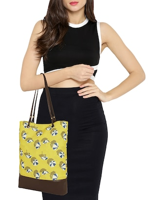 yellow canvas regular tote - 14903390 - Standard Image - 5