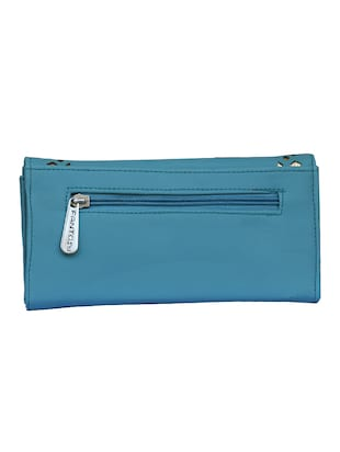 blue leatherette clutch - 14903440 - Standard Image - 2
