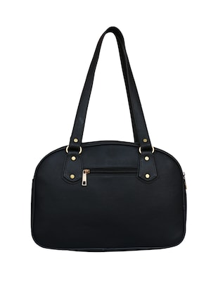 black leatherette regular handbag - 14903449 - Standard Image - 2