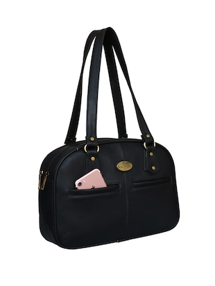 black leatherette regular handbag - 14903449 - Standard Image - 5