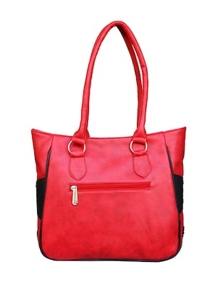 red leatherette  regular handbag - 14903451 - Standard Image - 2