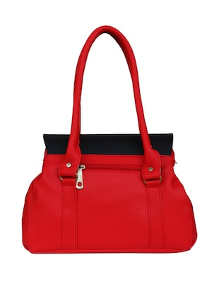 red leatherette  regular handbag - 14903455 - Standard Image - 2