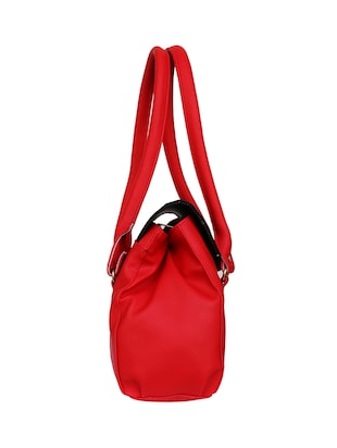 red leatherette  regular handbag - 14903455 - Standard Image - 5