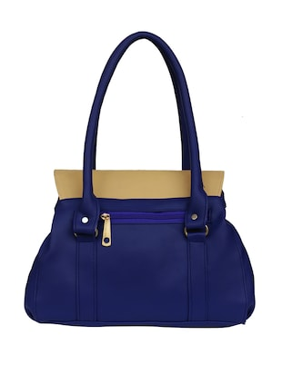 blue leatherette regular handbag - 14903459 - Standard Image - 2