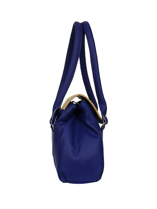 blue leatherette regular handbag - 14903459 - Standard Image - 5