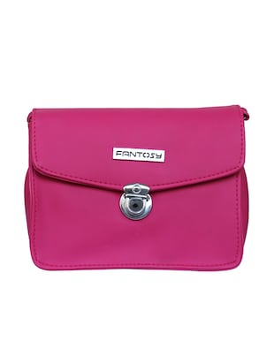 pink leatherette  regular sling bag - 14903493 - Standard Image - 5
