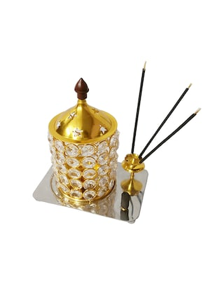 Decorate India Brass Crystal 3D Kit Akhand diya 6.2 inch - 14905108 - Standard Image - 2