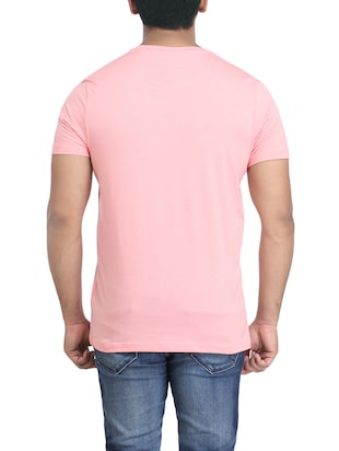 pink cotton chest print tshirt - 14905591 - Standard Image - 2