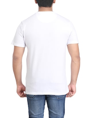 white cotton chest print tshirt - 14905599 - Standard Image - 2