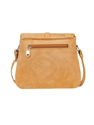 beige leatherette  regular sling bag - 14905670 - Standard Image - 2