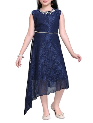 blue net party gown - 14906019 - Standard Image - 2