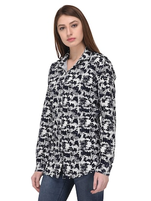 black printed cotton shirt - 14907180 - Standard Image - 2