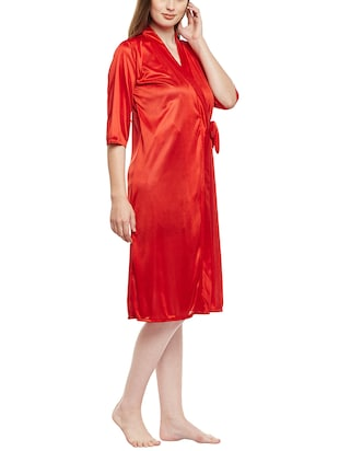 multi colored nighty with robe - 14907428 - Standard Image - 2