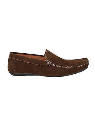 brown Suede slip on loafer - 14908764 - Standard Image - 2