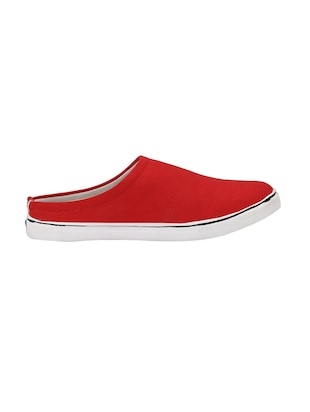 red Canvas slip on mules - 14908783 - Standard Image - 2