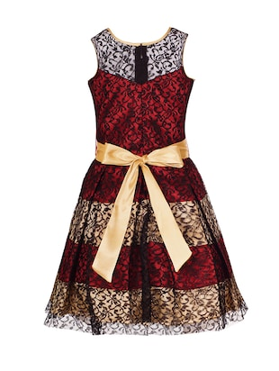 red polyester frock - 14908854 - Standard Image - 2