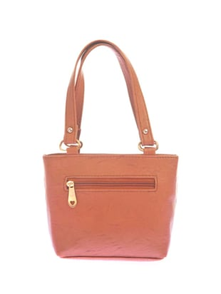 brown leatherette  regular handbag - 14909749 - Standard Image - 2