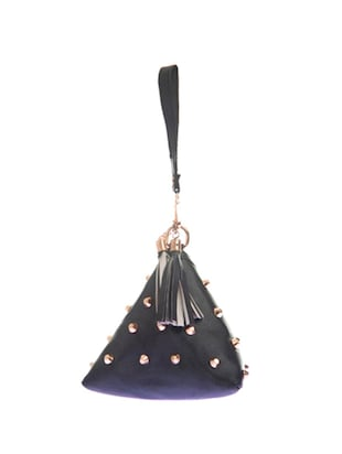 black leatherette sling bag - 14910227 - Standard Image - 2
