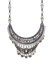 Silver Colored Metal Tribal Necklace - By
