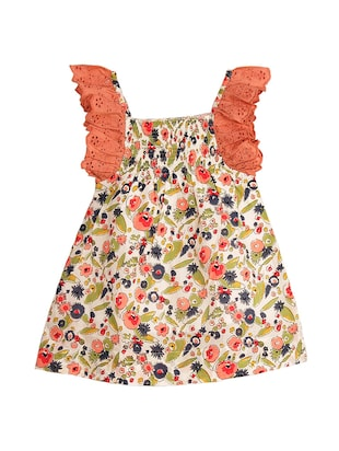 multi cotton frock - 14910735 - Standard Image - 2