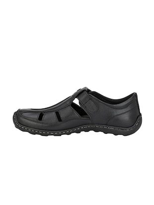 black Leather slip on sandal - 14910842 - Standard Image - 2