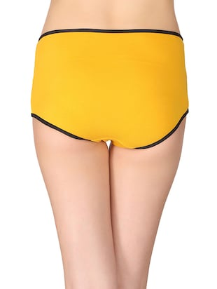 yellow cotton hipster panty - 14911321 - Standard Image - 2