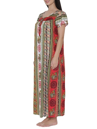 multi colored nightwear gown - 14911422 - Standard Image - 2