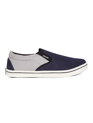 navy Canvas casual slipon - 14912587 - Standard Image - 2