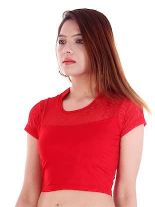 red plain blouse - 14912904 - Standard Image - 2