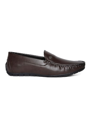 brown leatherette office wear loafer - 14912939 - Standard Image - 2