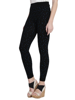 black printed cotton jegging - 14915620 - Standard Image - 2