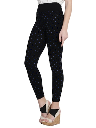 black printed cotton jegging - 14915635 - Standard Image - 2