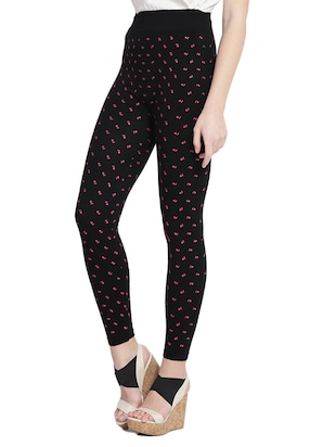 black printed cotton jegging - 14915637 - Standard Image - 2