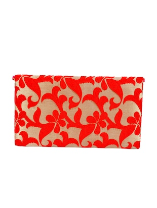 red polyester fold over clutch - 14918174 - Standard Image - 2
