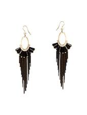 Black Copper Drop Earrings - By