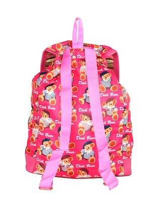 Pink leatherette fashion backpack - 14919860 - Standard Image - 2