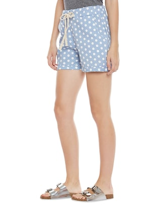 blue printed cotton shorts - 14921420 - Standard Image - 2