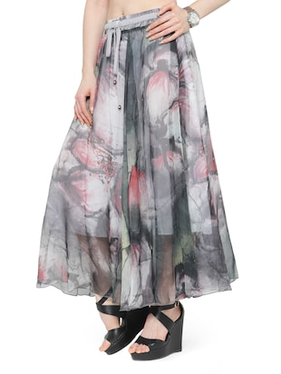 multi colored chiffon maxi skirt - 14921496 - Standard Image - 2